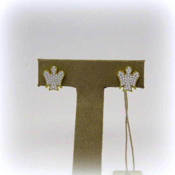 Orecchini donna angeli in argento 925 Giannotti