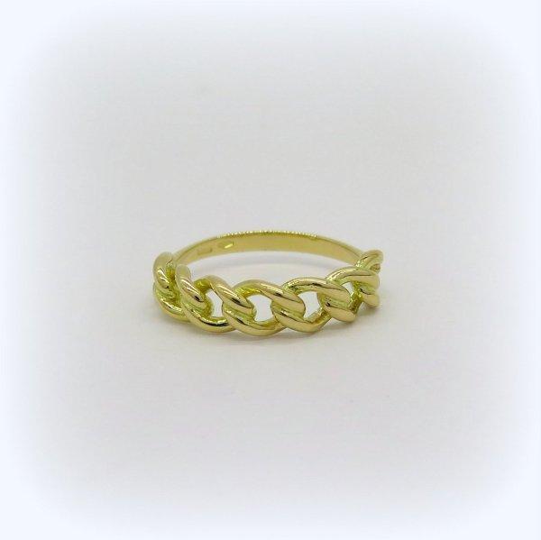 Anello groumette in oro giallo 18 ct