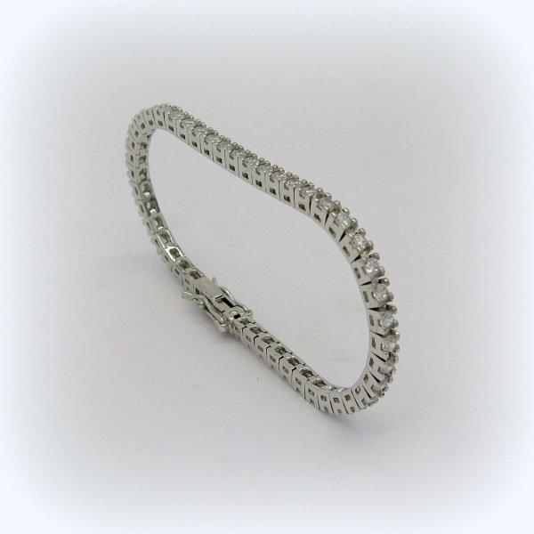 Bracciale Tennis in argento e zirconi