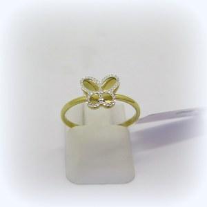 Anello bimba farfalla in oro 18 ct