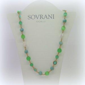 Collana Sovrani Bijoux perla barocca e gemme naturali