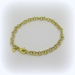 Bracciale in oro giallo ideale per charms