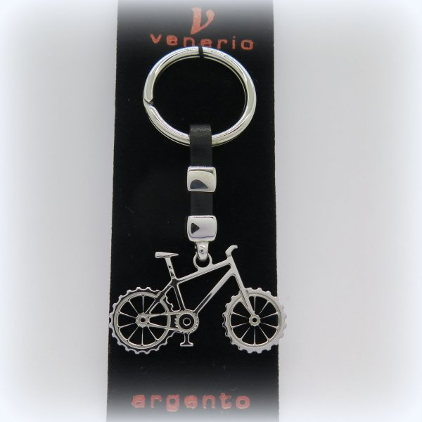 Portachiavi in argento mountain bike Venerio