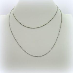 Collana catenina cordino 90 cm in argento