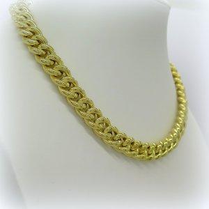 Collana Groumette donna placcata oro giallo in argento 925