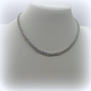 Collana donna luminosa in argento 925