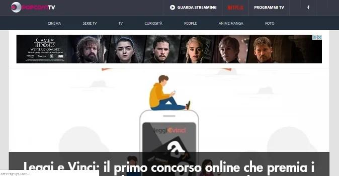 popcorntv home page