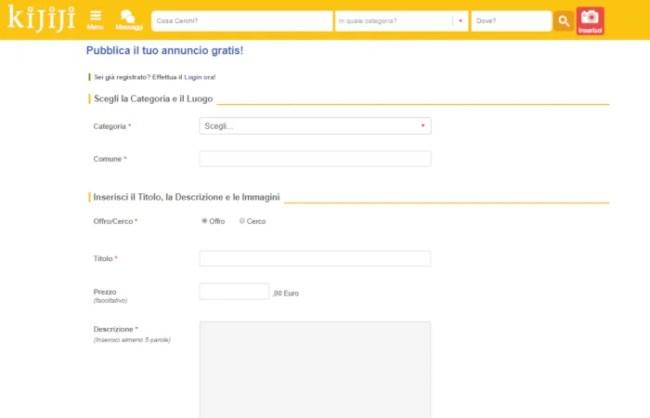 come inserire un annuncio su ebay
