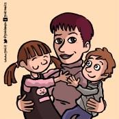 ritratto di famiglia a fumetti