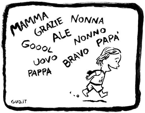 prime parole bambino
