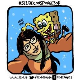 selfie con spongebob