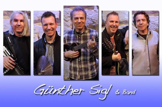 Besetzung von links nach rechts: Wolfgang Götz (Keyboard, Gesang) Robert Gorzawsky (Schlagzeug) Günther Sigl (Gesang, Gitarre, Ukulele etc.) Willie Duncan (Gitarre, Gesang) Dieter Radig (Percussion, Gesang)