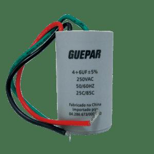 CAPACITOR VENTILADOR DE TETO DUPLO 4-6UF 250VAC GUEPAR