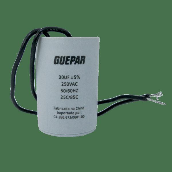 CAPACITOR PARA MAQUINA DE LAVAR 30UF 250VAC GUEPAR