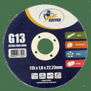 DISCO DE CORTE INOX G13 EXTRA FINO GUEPAR