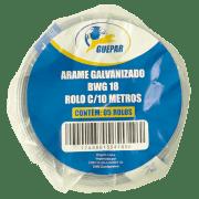 ARAME GALVANIZADO 18 C 05 ROLOS DE 10M GUEPAR