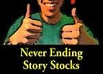 Man smiling with two thumbs up. Never ending story stocks.