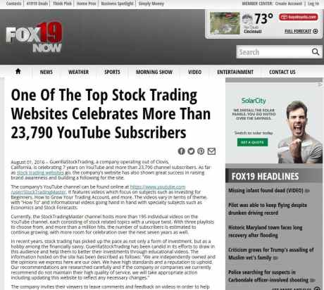 GuerillaStockTrading.com on Fox