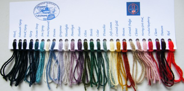 Guernsey wool shade card
