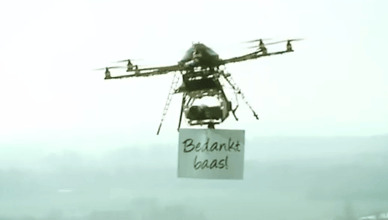 Pluimen Drone Guerrilla Marketing