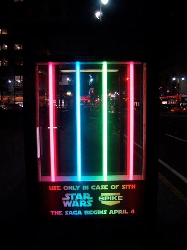 guerrillamarketing bushokje Star Wars