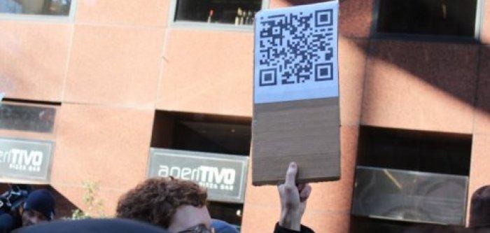 QR-code demonstratie