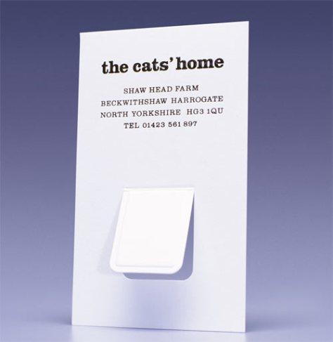 creatief visitekaartje kat