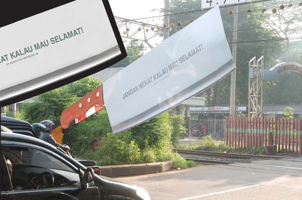 Guerrilla Marketing Voorbeeld 17 Rail Indonesie