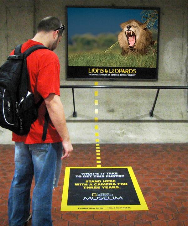 Guerrilla Marketing Voorbeeld 38 National Geographic