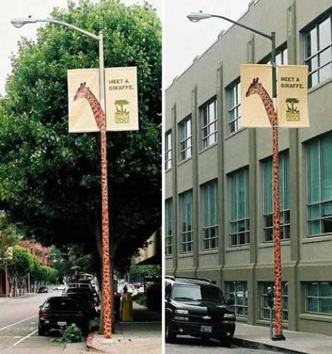 Guerrilla Marketing Voorbeeld 45 Giraffe