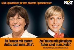 Ulla Schmidt vs. Sixt