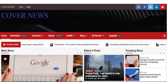 CoverNews free newsportal theme