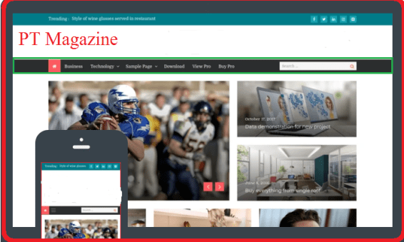 PT magazine free WP news theme
