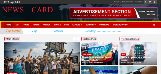 News Card free wp news portal theme