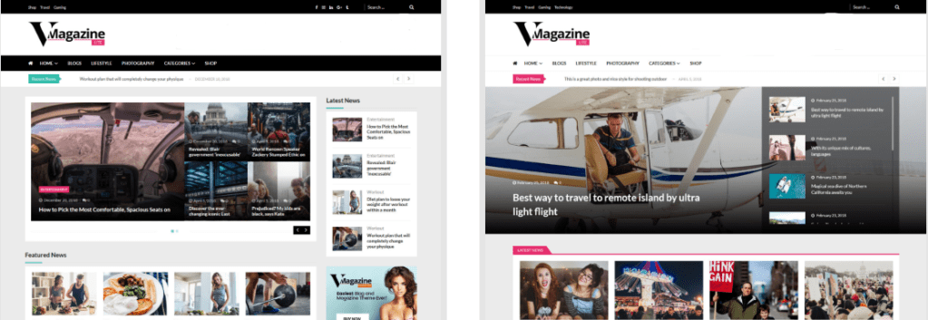 VMagazine wordpress free news magazine theme