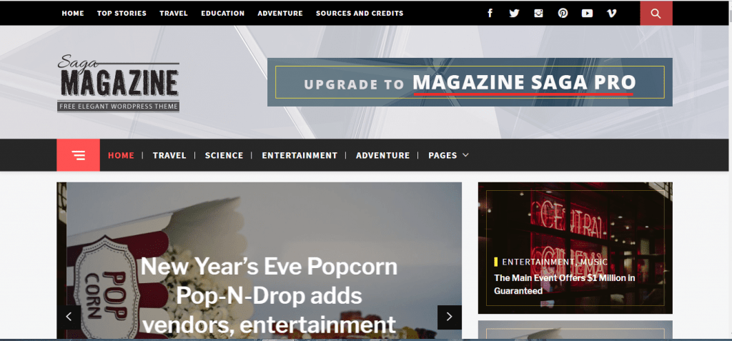 Magazine Saga WP News Theme