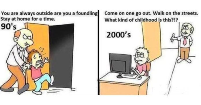 90s kids vs todays kids