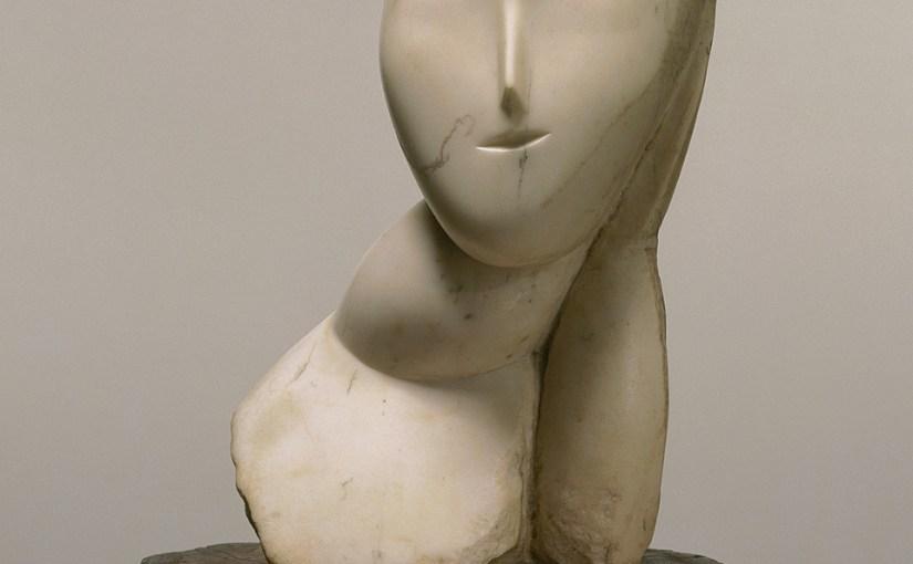 Constantin Brancusi, Muse, 1912. Marble, 18 1/4 x 9 x 8 3/4 inches (46.4 x 22.9 x 22.2 cm)