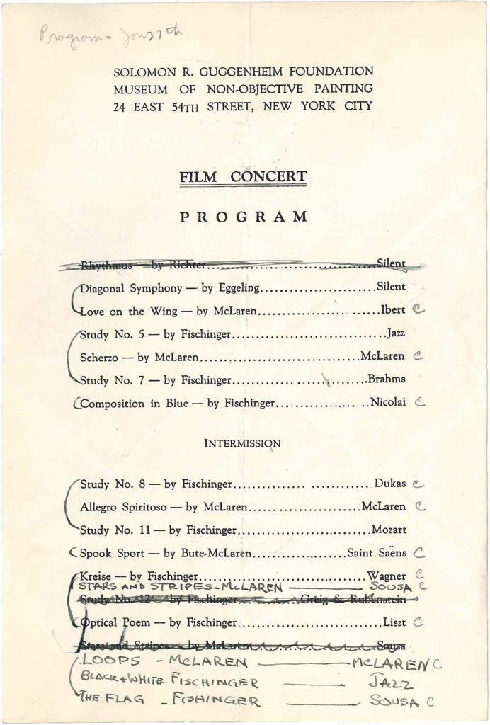 "Programs From A Series Of 1940S ""Film Concerts"""