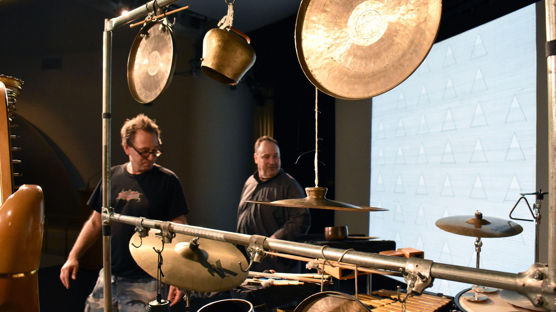 John Zorn in rehearsal at the Guggenheim