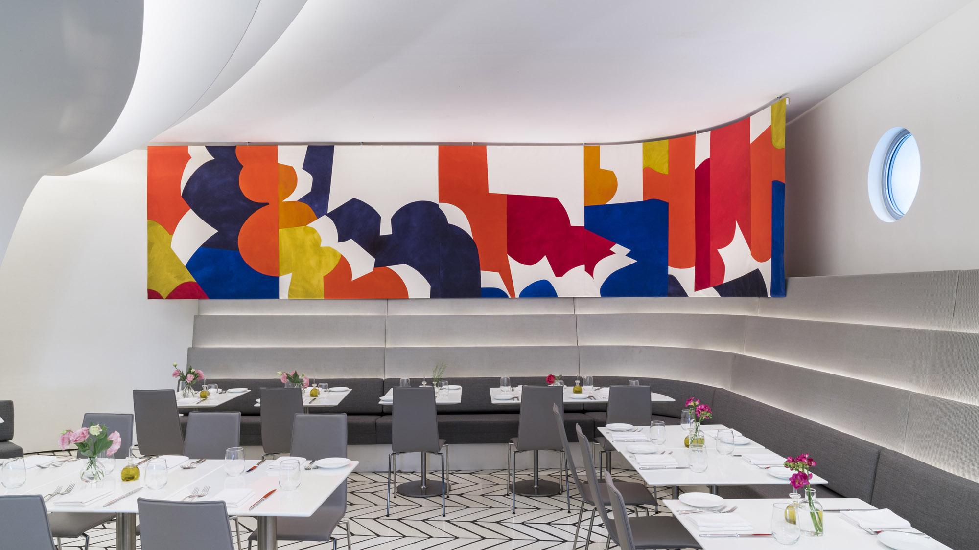 Walk Inside the Art: Sarah Crowner's New Installation in ...  Guggenheim Inside
