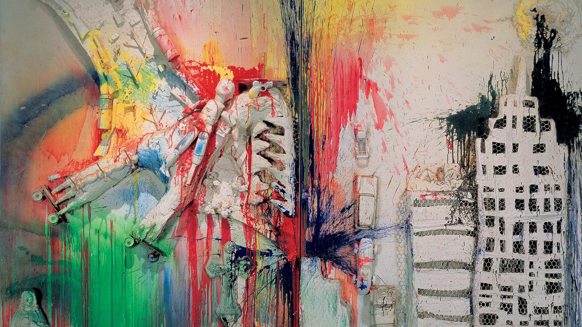 Detail: Niki de Saint Phalle, Pirodactyl Over New York, 1962