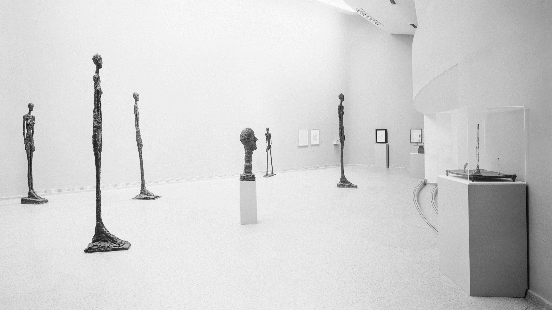 Alberto Giacometti Retrospective, Solomon R. Guggenheim Museum, New York, April 5–June 23, 1974. Photo: SRGF