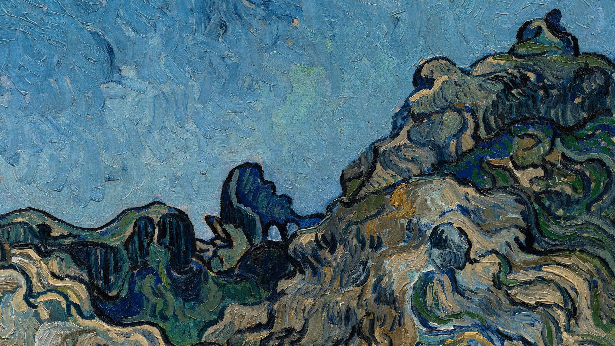 Detail: Vincent van Gogh, Mountains at Saint-Rémy (Montagnes à Saint-Rémy), July 1889