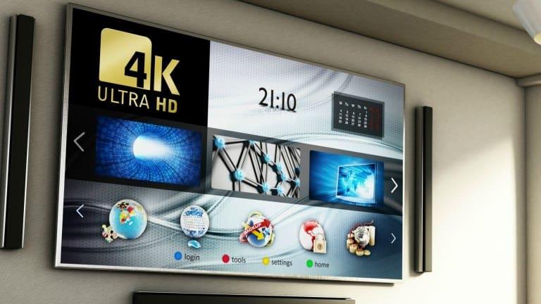 Imagem de sala com Smart TV 4k.