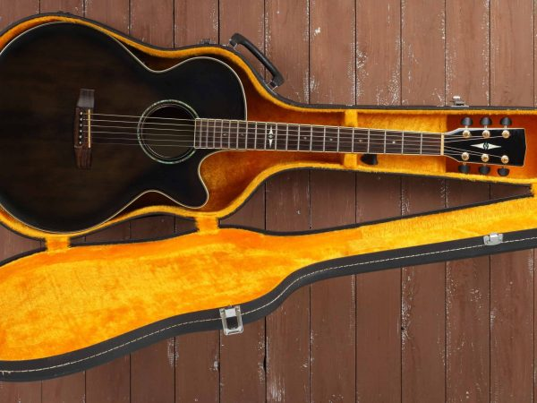 guitar in a yellow case
