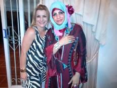 Amiga Isabel, Embaixatriz de Omã, foi da um abraço, no casal da Argélia. Em sua residência. Foi uma reunião de amigos.