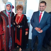 Despedida do Embaixador e Embaixatriz da Argélia lá estava Presente o casal Embaixador de Omã.