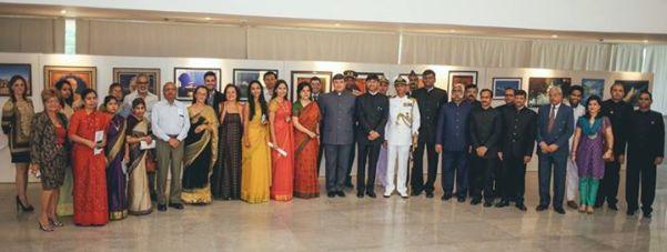 Visão panorãmica do Corpo Diplomático da Embaixada da Índia - Foto: Embaixada da Índia