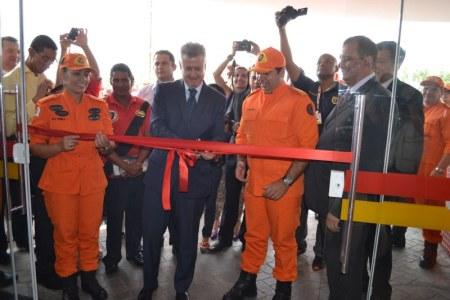 Governador Rodrigo Rollemberg presente na inauguração do novo quartel do Corpo de Bombeiros - Foto: CBMDF